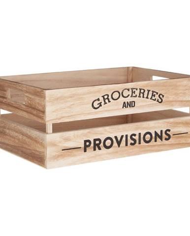 Drevený úložný box Premier Housewares Provisions, 25×35 cm