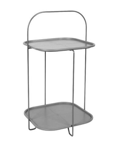 Sivý odkladací stolík Leitmotiv Trays