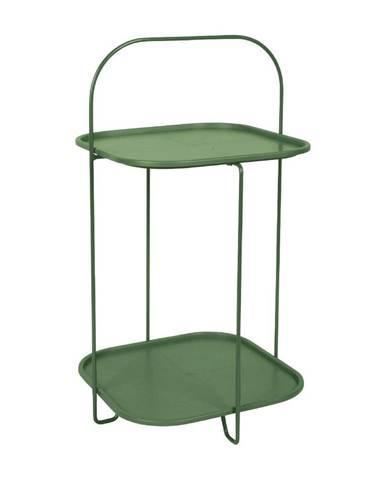 Tmavozelený odkladací stolík Leitmotiv Trays