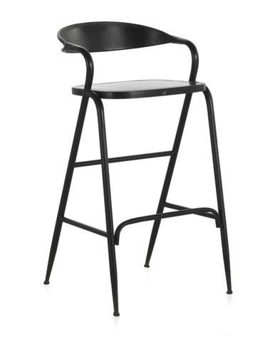 Čierna kovová stolička Geese Industrial Style