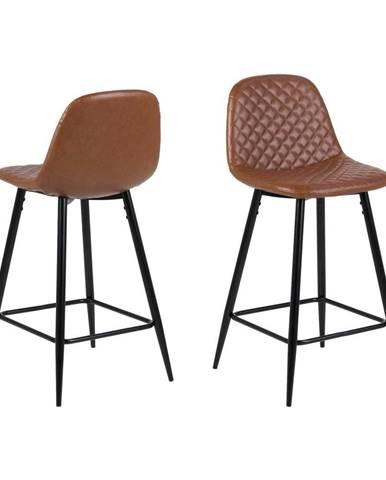 Hnedá barová stolička Actona Wilma