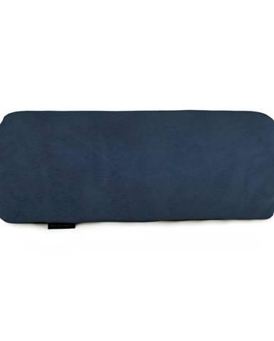 Námornicky modrý dekoratívny vankúš Velvet Atelier, 50×20cm