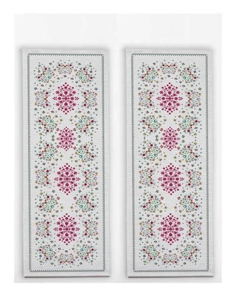 Madre Selva Sada 2 stolových behúňov s ľanovou prímesou Madre Selva Flowers Tapestry