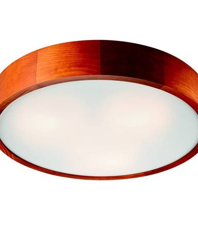 Hnedé kruhové stropné svietidlo Lamkur Plafond, ø 47 cm