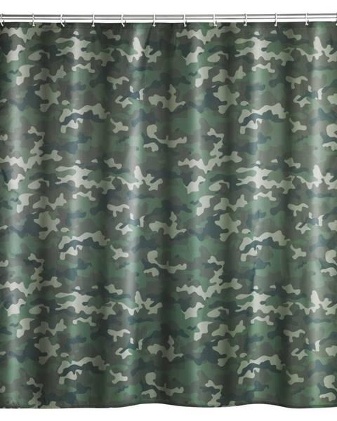Wenko Prateľný sprchový záves Wenko Camouflage, 180 x 200 cm