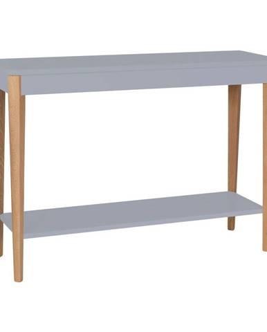 Sivý konzolový stolík Ragaba Ashme, šírka 105 cm