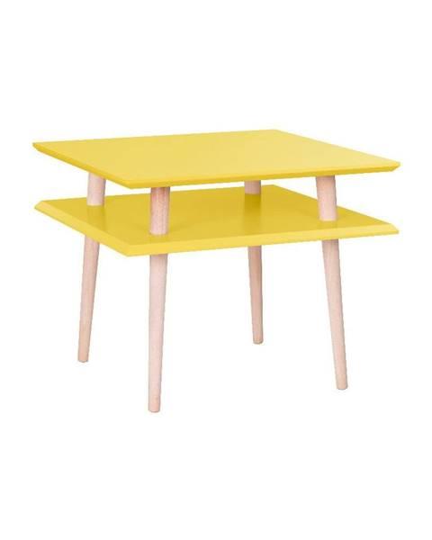 Ragaba Žltý konferenčný stolík Ragaba Square, 55 x 55 cm