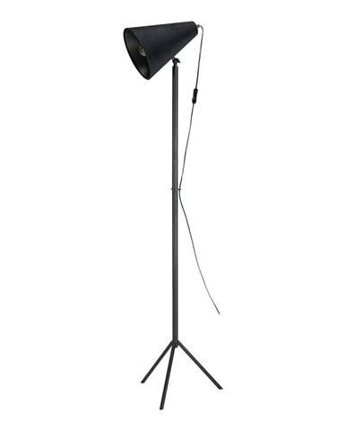 Čierna voľne stojacia lampa Markslöjd Cilla Floor 1L, výška 1,5 m