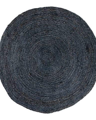 Tmavosivý okrúhly koberec HoNordic Bombay, ø 180 cm