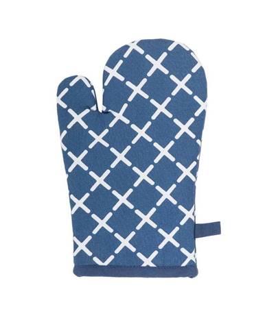 Modrá bavlnená chňapka Tiseco Home Studio Cross