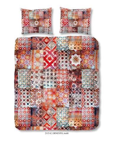 Obliečky na dvojlôžko z bavlneného saténu zouzou Sahara, 200×200 cm