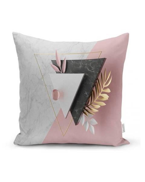 Minimalist Cushion Covers Obliečka na vankúš Minimalist Cushion Covers BW Marble Triangles, 45 x 45 cm