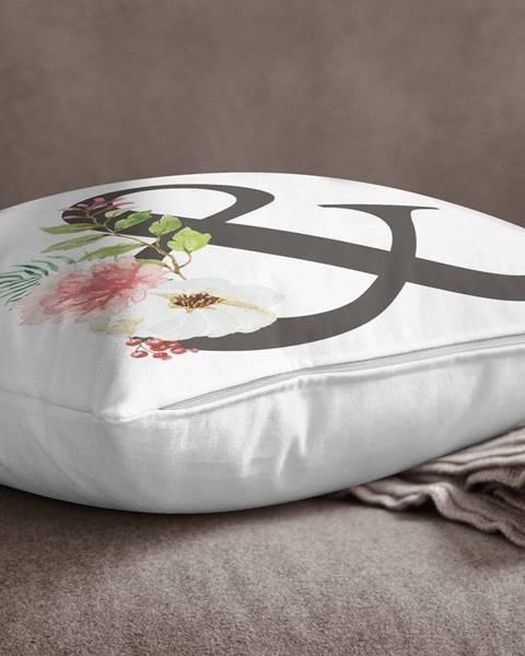 Minimalist Cushion Covers Obliečka na vankúš Minimalist Cushion Covers Floral Alphabet &, 45 x 45 cm