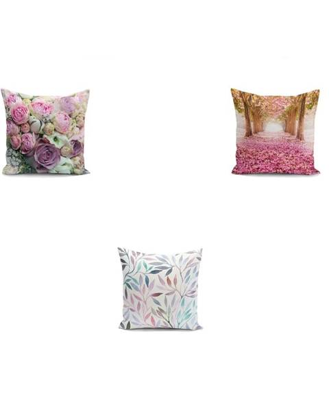 Minimalist Cushion Covers Sada 3 obliečok na vankúše Minimalist Cushion Covers Mesmia, 45 x 45 cm