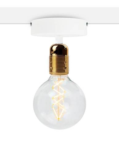 Biele stropné svietidlo so zlatou objímkou Bulb Attack Uno Basic