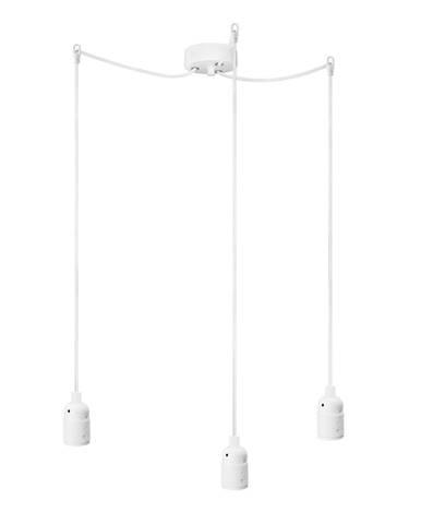 Biele trojramenné závesné svietidlo Bulb Attack Uno Basic