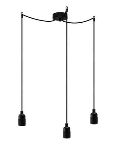 Čierne trojramenné závesné svietidlo Bulb Attack Uno Basic