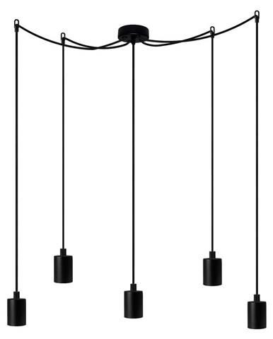 Čierne päťramenné závesné svietidlo Bulb Attack Cero Basic