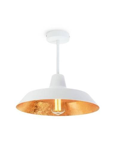 Stropné svietidlo v bielej a zlatej farbe Bulb Attack Cinco Basic
