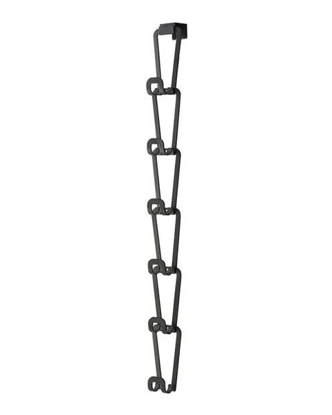 YAMAZAKI Čierny vešiak na kabelky so zavesením na dvere a 6 háčikmi Yamazaki Kanazawa