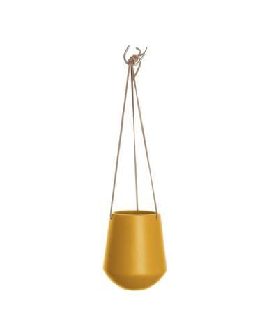 Matný okrovožltý závesný keramický kvetináč PT LIVING Skittle, výška 15cm