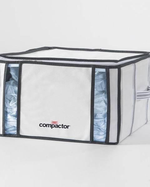 Compactor Biely úložný box s vákuovým obalom Compactor Black, objem 125 ml