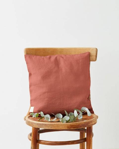 Linen Tales Marhuľovooranžová ľanová obliečka na vankúš Linen Tales, 45 x 45 cm