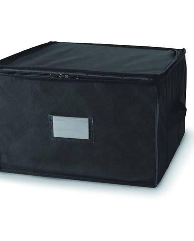 Čierny úložný box so zapínaním na zips Compactor Compress Pack, 125 l