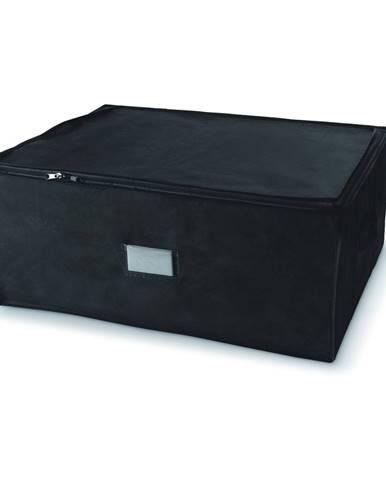 Čierny úložný box so zapínaním na zips Compactor Compress Pack, 210 l