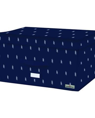Tmavomodrý úložný box Compactor Trunk Kasuri, 150 l