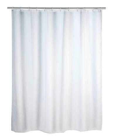Biely sprchový záves s protiplesňovou povrchovou úpravou Wenko, 180×200 cm