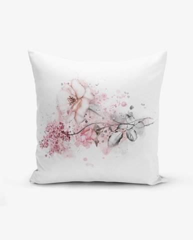Obliečka na vankúš s prímesou bavlny Minimalist Cushion Covers Ogea Flower Leaf, 45×45 cm