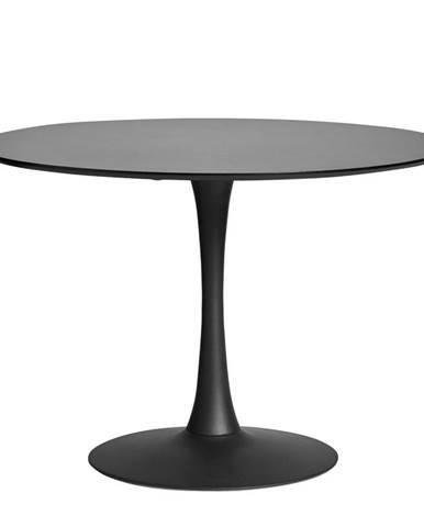 Okrúhly čierny jedálenský stôl Marckeric Oda, ⌀ 110 cm