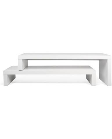 Biely variabilný stolík TemaHome Cliff Walnut