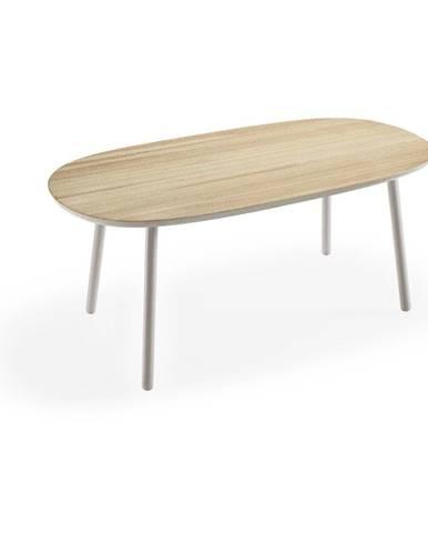 Jedálenský stôl z jaseňového dreva so sivými nohami EMKO Naïve, 180×90 cm