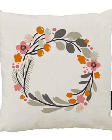 Vankúš Butter Kings z bavlny Floral Wreath, 45 x 45 cm