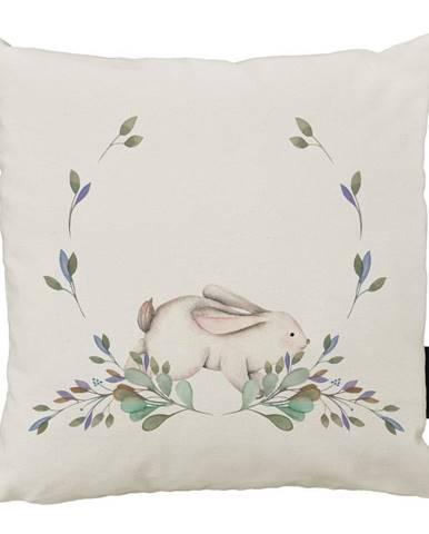 Vankúš Butter Kings z bavlny Rabbit in Branches, 45 x 45 cm