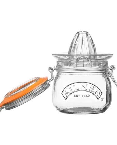 Súprava skleneného odšťavovača a pohára s klipom Kilner Citrus