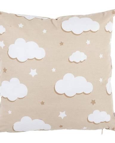 Svetlohnedá bavlnená obliečka na vankúš Mike&Co.NEWYORK Skies, 35 x 35 cm