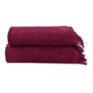 Sada 2 červených uterákov zo 100% bavlny Bonami, 50 × 90 cm