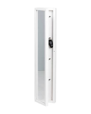 Biela skrinka na kľúče sozrkadlom Rowico Sol