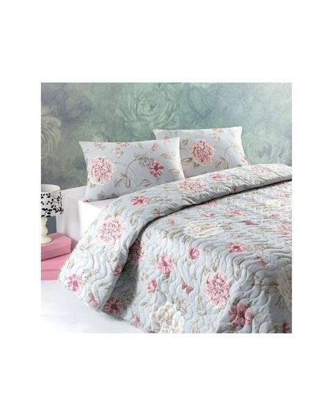 Eponj Home Pléd cez posteľ na dvojlôžko s obliečkami na vankúše Santos, 200×220cm