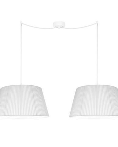 Biele dvojramenné závesné svietidlo Sotto Luce KAMI Elementary L 2S