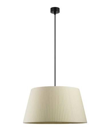 Béžové závesné svietidlo s čiernym káblom Sotto Luce Kami, ∅ 45 cm