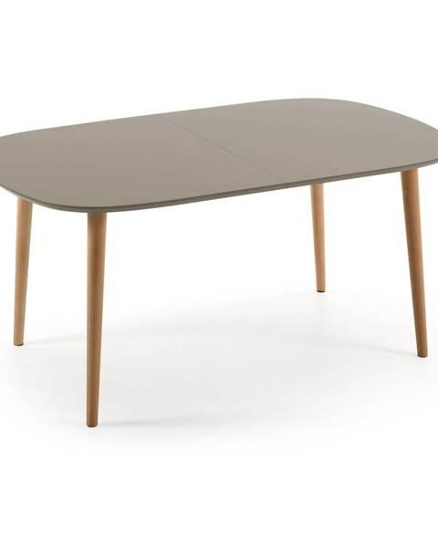 La Forma Sivý rozkladací jedálenský stôl La Forma Oakland, 160 x 100 cm