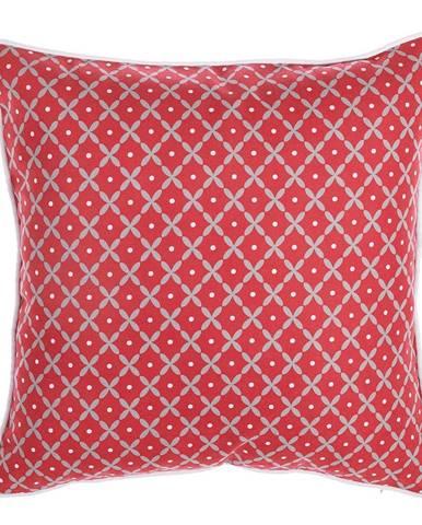 Červená obliečka na vankúš Mike&Co.NEWYORK Rustic Pattern, 43 × 43 cm