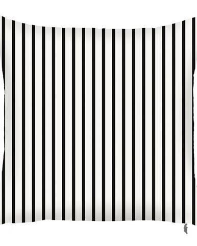 Čierno-biela obliečka na vankúš Mike&Co.NEWYORK Pinky Light Stripes, 43 × 43 cm