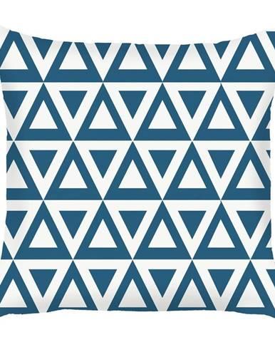 Modrá obliečka na vankúš Mike&Co.NEWYORK Triangle, 43 × 43 cm