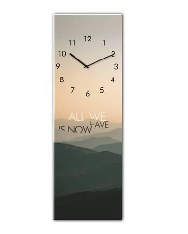 Nástenné hodiny Styler Glassclock Mountains, 20 × 60 cm