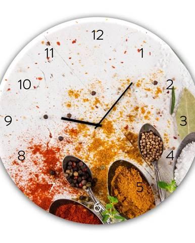 Nástenné hodiny Styler Glassclock Spoon, ⌀ 30 cm